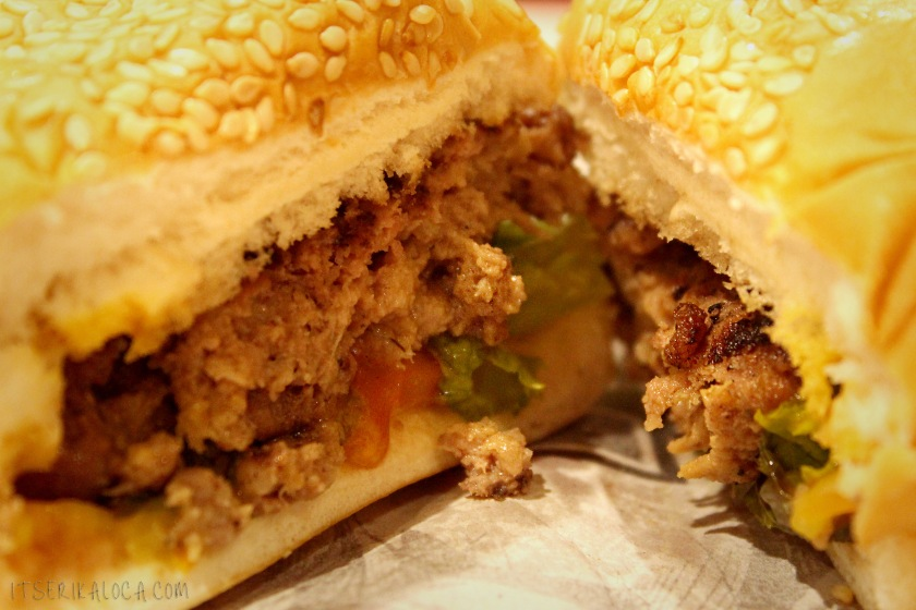 sliced burger
