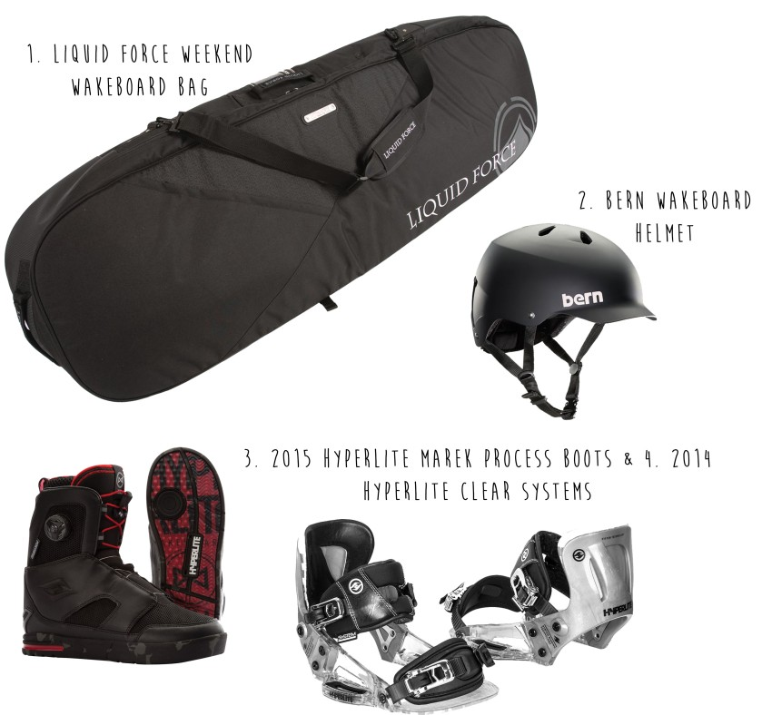 Wakeboarding items
